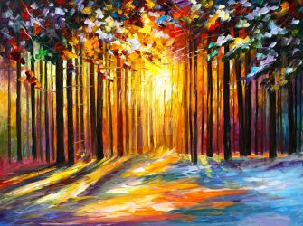 Sun of January by Leonid Afremov by Leonidafremov
