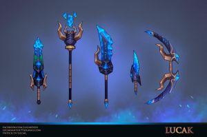 Hand painted weapons set by lucak-desu