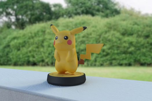 Pikachu amiibo (3d model) by cshep99