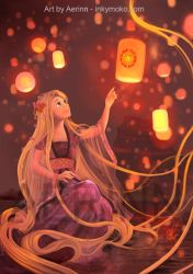 Tangled / Rapunzel by Aerinn-I