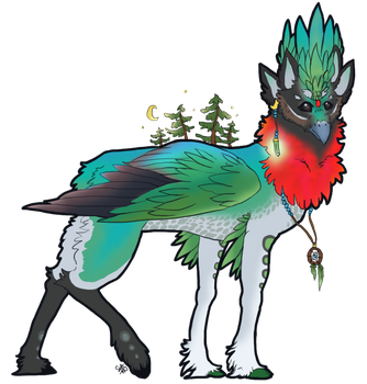 [Fancy Ruby-Throated Gryphon] by Inklement