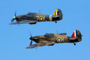Hawker Hurricane Pair by Daniel-Wales-Images