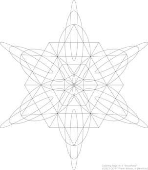 Coloring Page #14 'Snowflake' by fewilcox