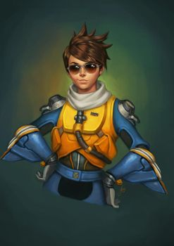 Reciprocity Blizzcon Badges - Tracer by JuneJenssen