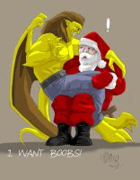 Katman vs Santa by avator
