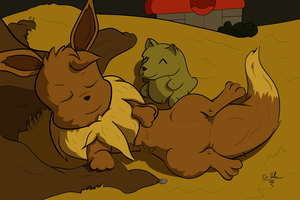 Eevee Used Rest by altimis