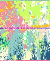 Grunge Splatters Brushes by Coby17