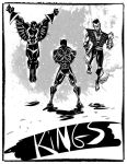 Marvel Kings trio -Skecth of the day by ADE-doodles