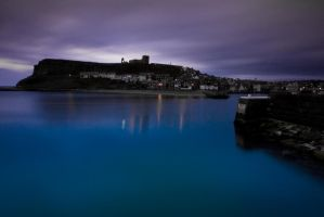 Whitby Harbour at Dawn by crowthius