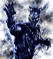 Captain America : Civil War - Black Panther by p1xer