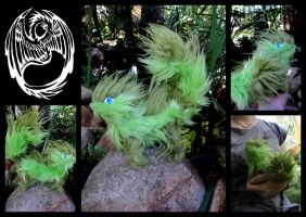 Rikiae - Handmade OOAK lil green companion critter by SonsationalCreations
