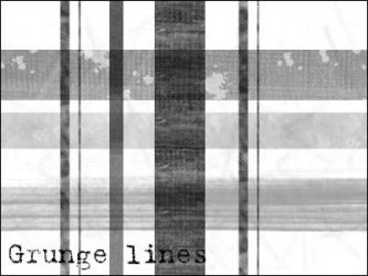 Grungey lines brushes. by AlenaJay