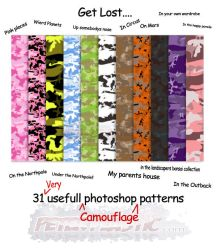 camouflage patterns by PeterPlastic