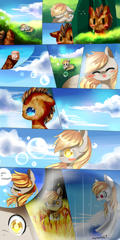 MLP comic(distant memories) page 3 by AquaGalaxy