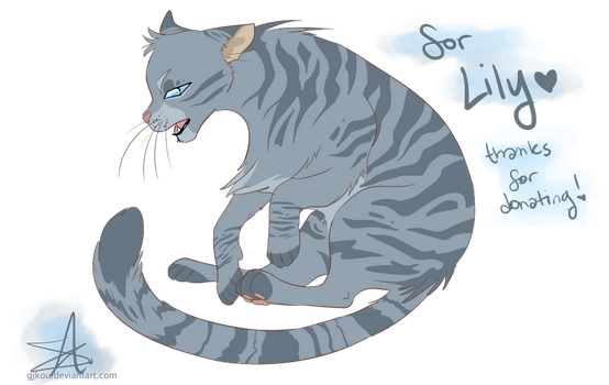 [UNICEF COMM] Jayfeather for CattyCutie by GJKou