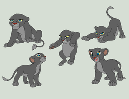 Lion Cub Bases 2 by AnarsAdoptionAgency
