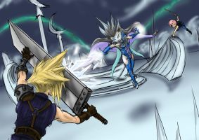 Dissidia Aces Cycle 4 Round 5 Lighting vs Cloud by utenafangirl