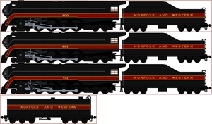 Norfolk and Western Class J Sprite by Diamond-Jubilee
