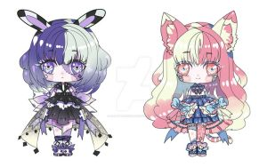 [Chibi Adoptables] #2[sold] #3 AUCTION OPEN by rabbittheking