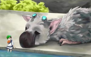 Trico and Jack (The Last Guardian) by greenpigsfly