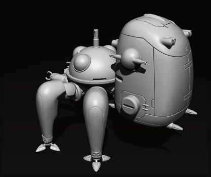 Tachikoma - Back View by Dipnusurf