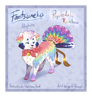 'Psychedelic Rainbow' Fantsuneko AUCTION [CLOSED] by Furreon