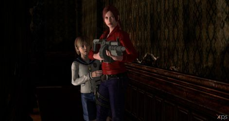 Claire Re2 remake with Sherry by ChrisTalyus