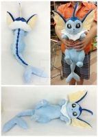 Vaporeon Companion Plush by Cryptic-Enigma