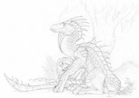 Jungle Dragon Pencils by J-Ian-Gordon