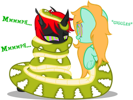 Tight Snugly Coils by CyberApple456