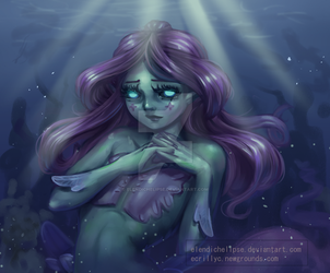 Mermaid girl by ElendichElipse