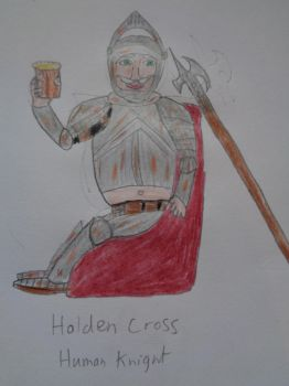Holden Cross Human Knight by woodywoodwood