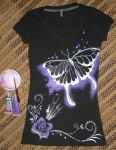 Butterfly handpainted t-shirt by MidnightTiger8140