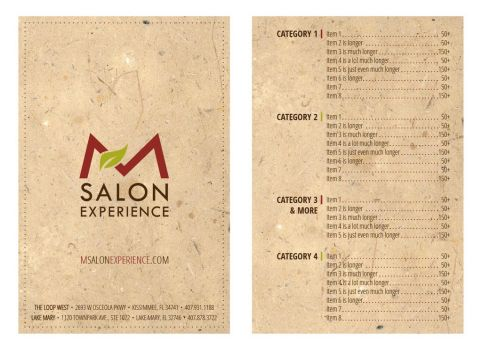 Salon Menu Concept 1 by mynando
