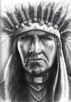 Proud Native American Chief by daniluc78