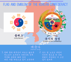 Flag and Emblem of the Korean Confederacy by ThaDrummer