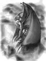 Dragon - Blanco y Negro by IBuro