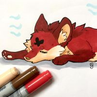 Sleeping Naokee by Mogueta