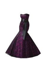 Black and Purple Mermaid Gown PNG by Vixen1978