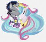 MLP - Celestia and Sombra by liliy