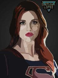 Lydia as Supergirl by derianl