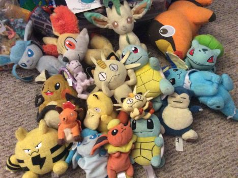 My Pokemon plush collection by SugaLawliet