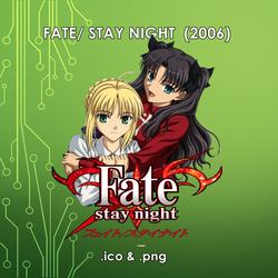 Fate Stay Night (2006) Anime Icon by dhikris