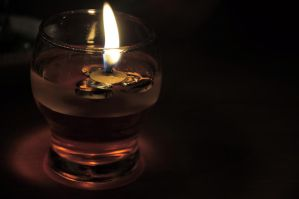 glass candle by 212diro