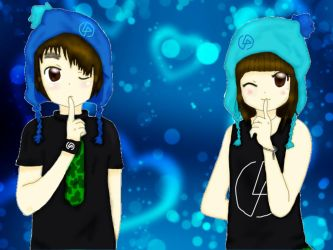 me and Nyo  me :3 by ArellLP