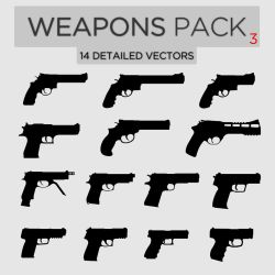 Weapons Pack #3 Pistols by Zee-Who
