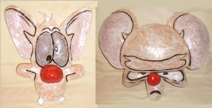 Pinky and the Brain Wall Masks by aberrantceramics