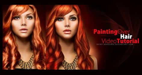 Painting over hair by shiny-shadows-Art