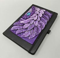 Sparkly Purple Feather Journal Cover by MandarinMoon