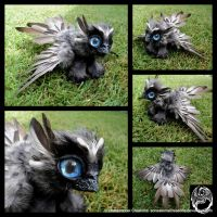 Baby Griffin - Handmade Poseable Art Doll - SOLD by SonsationalCreations